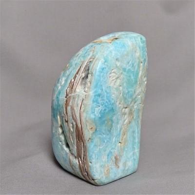 Aragonite blue polished 608g Afghanistan