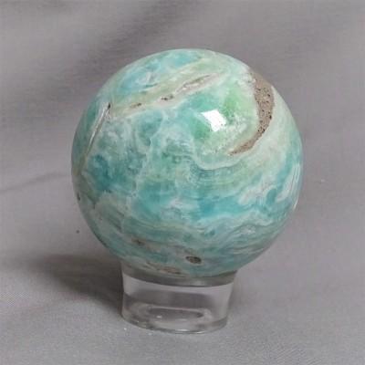 Aragonite blue - sphere 322g Afghanistan
