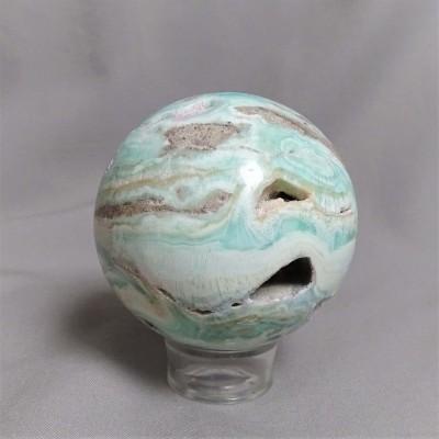 Aragonite blue - sphere 379g Afghanistan