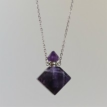 Amethyst - crystal aroma difuser (necklace)