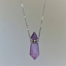 Amethyst - crystal aroma diffuser (necklace)