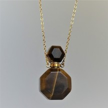 Tiger eye - crystal aroma diffuser (necklace)