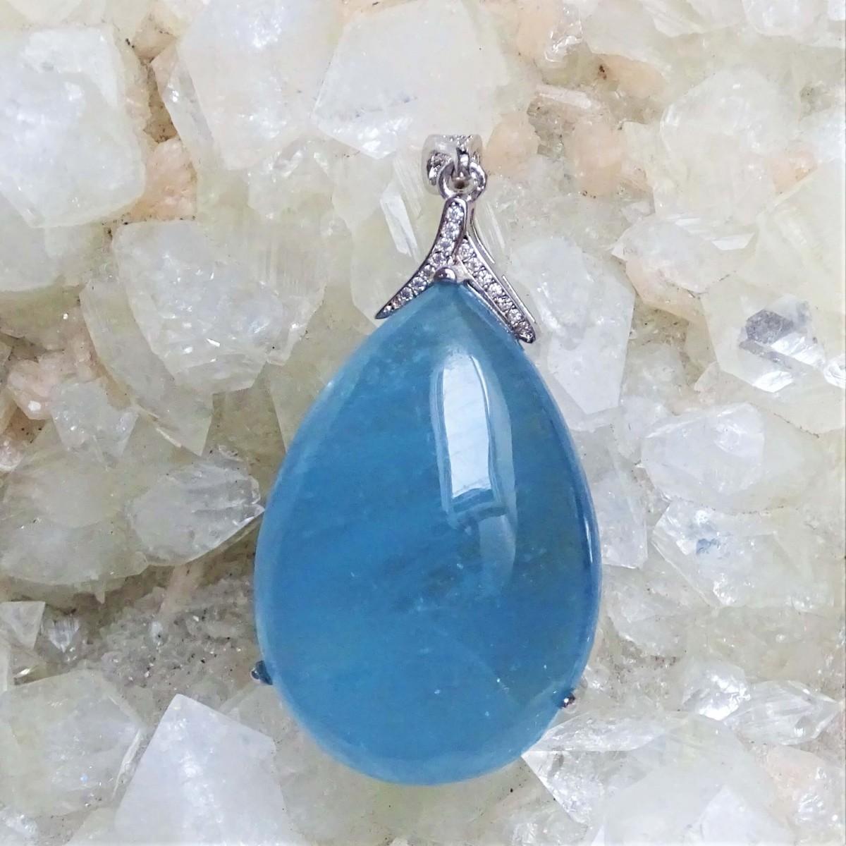 Aquamarine - pendant 17,1g, Brazil top quality