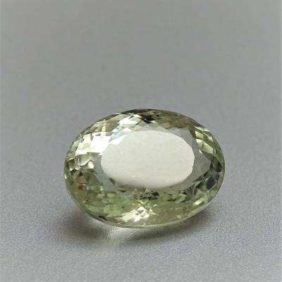 Green amethyst (prasiolite) cut 19,73 ct, Sri Lanka