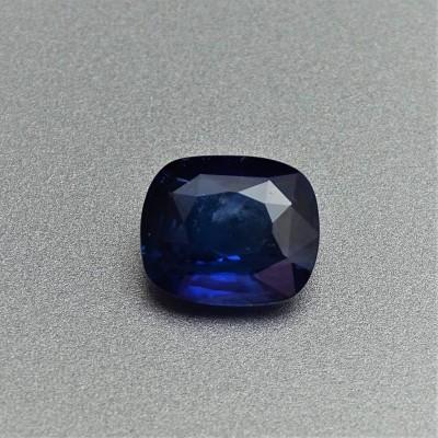 Sapphire blue 3,42 ct Sri Lanka CGL (Ceylon Gem Lab) member of the GIA certificate