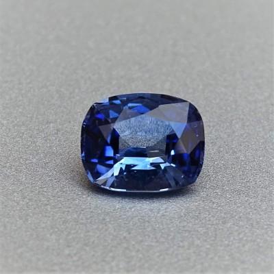Sapphire blue 1,75 ct Sri Lanka CGL (Ceylon Gem Lab) member of the GIA certificate