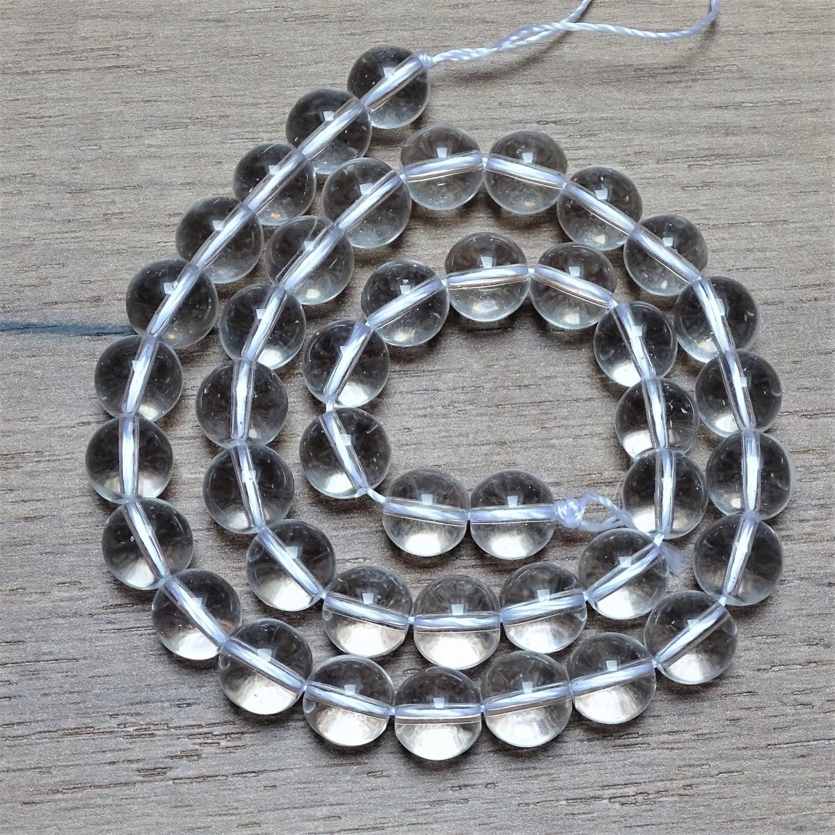 Natural quartz crystal beads - Ø 7,5 mm