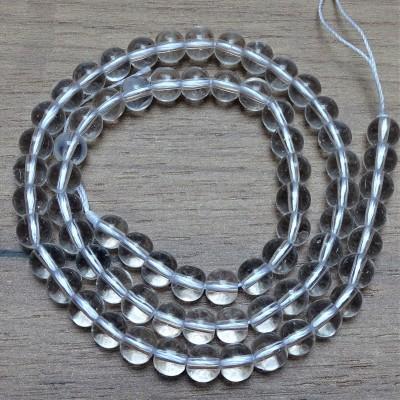Natural quartz crystal beads - Ø 6 mm