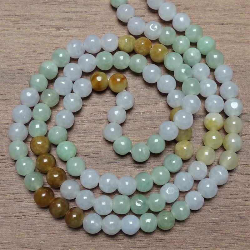Mineral beads - JADE - color mix Ø 6.5 mm