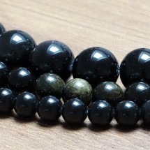 Mineral beads - GOLDEN OBSIDIAN - Ø 12 mm
