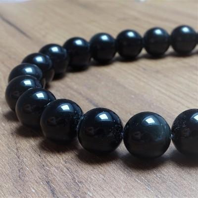 Mineral beads - RAINBOW OBSIDIAN - Ø 15 mm