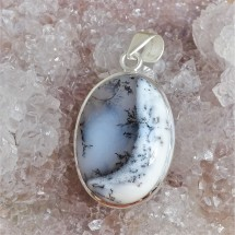 Dendritic opal (merlinite) - pendant