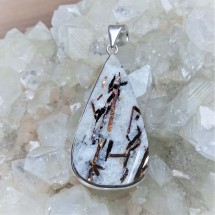 Pendant made of rare astrophyllite