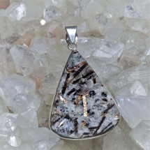 Unique pendant made of rare astrophyllite
