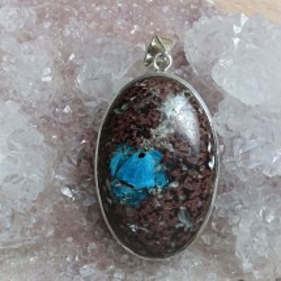 Trully gem - unique rare cavansite (pendant)