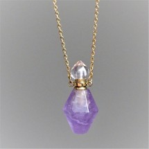 Crystal bottle - aroma diffuser - necklace.