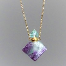 Aroma crystal diffuser (necklace) - made of fluorite