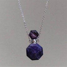 Amethyst aroma diffuser (necklace) - original jewelry and parfum bottle.