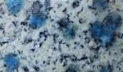 K2 azurite in granite - minerals, crystals, collection stones